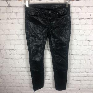 All Saints Jeans - All Saints Spitalfields Brodie Coated Jeans Petrel